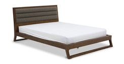Ceni Upholstered Cocoa Queen Bed