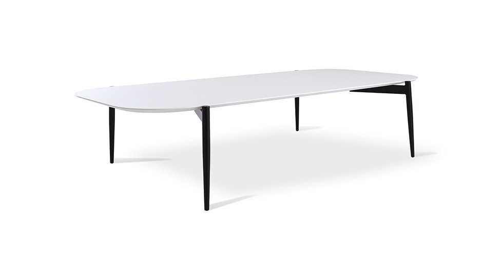 "Alec White 13"" High Coffee Table"