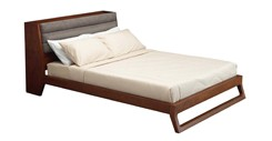 Ceni Upholstered Cocoa Storage Queen Bed