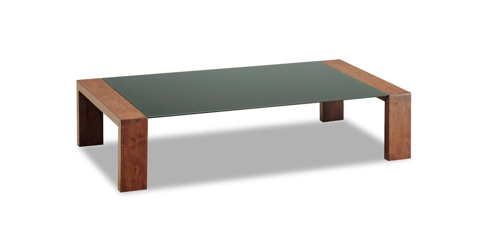 Clarkson Cocoa Brown Glass Coffee Table
