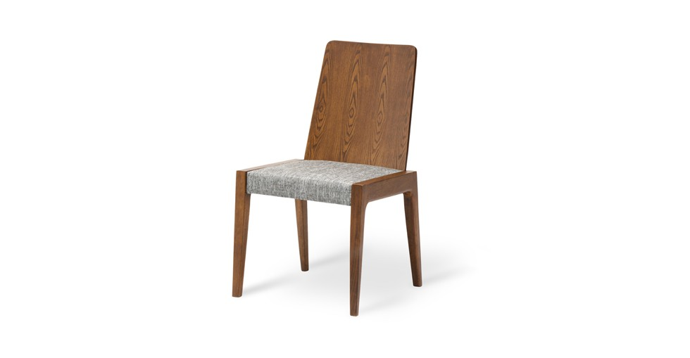Cole Coral Fabric Upholstered Cocoa Dining Chair