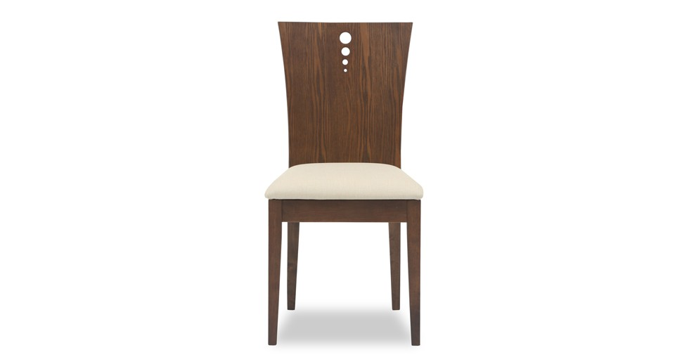 Flora Khaki Fabric Upholstered Cocoa Dining Chair