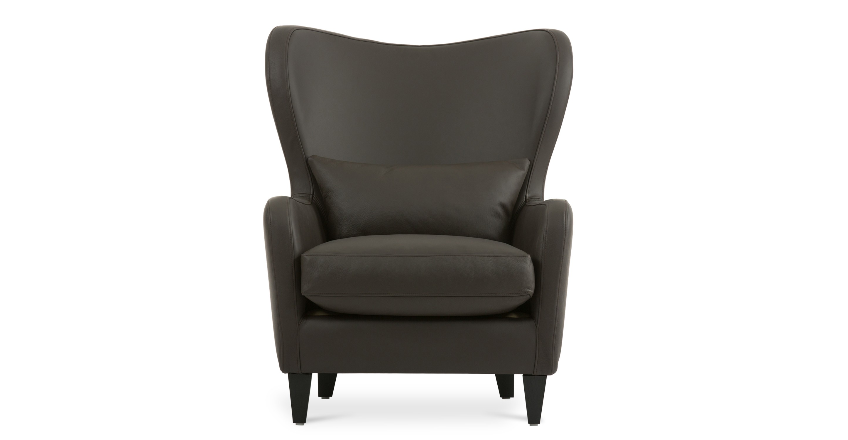Polo Coffee Brown Leather Armchair Lounge Chairs